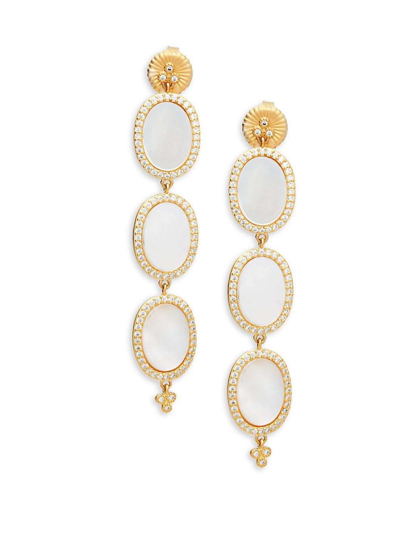 Freida Rothman Mother-of-Pearl Eyelet Earrings pmd3C