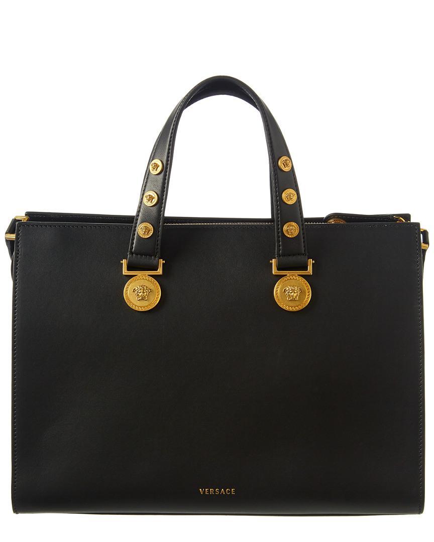 Versace Tribute Leather Satchel in Black - Lyst eacaa1ce9f290