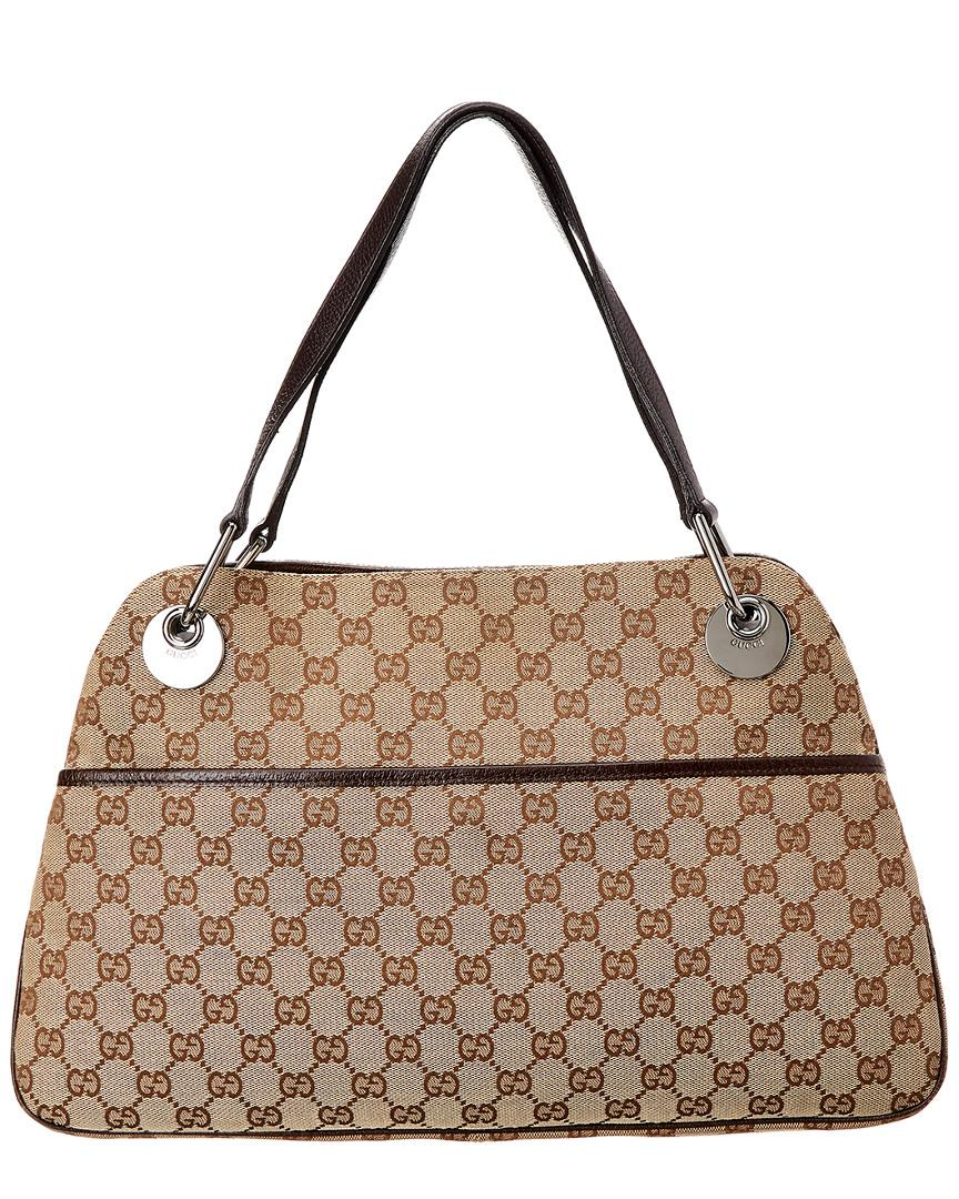 Lyst - Gucci Brown GG Canvas   Leather Eclipse Tote in Brown 33d5f0df87726