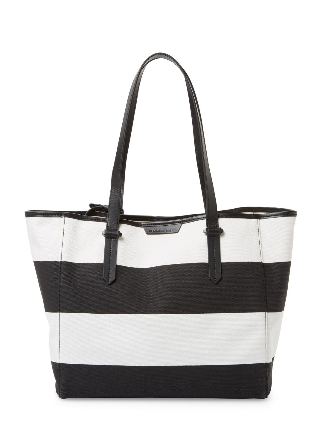 Lyst Kendall Kylie Shelly Striped Tote Bag In Black