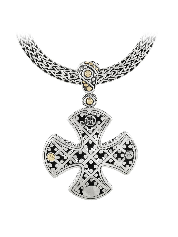 Lyst John Hardy Dot Two Tone Maltese Cross Pendant In Metallic
