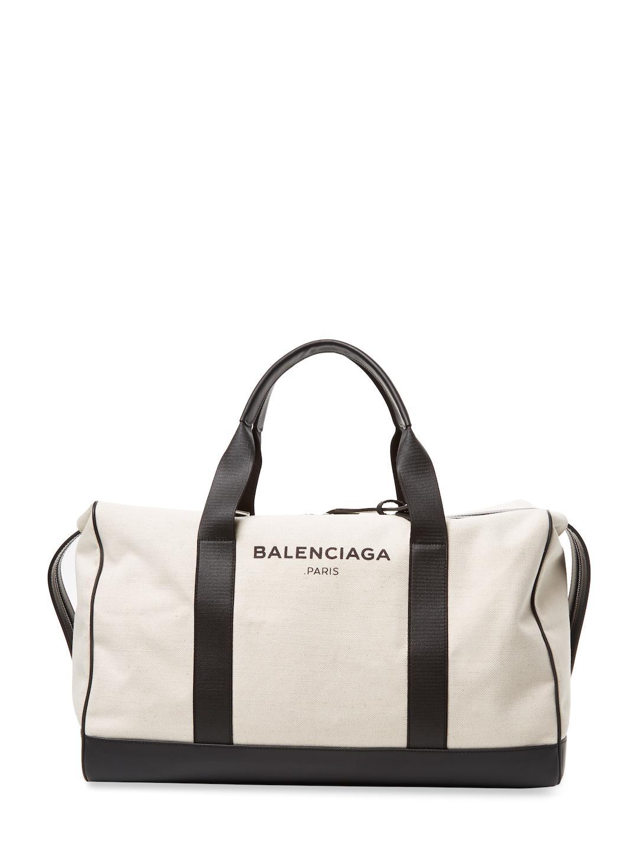 34055c09e619 Lyst - Balenciaga Removable Strap Travel Bag in White for Men