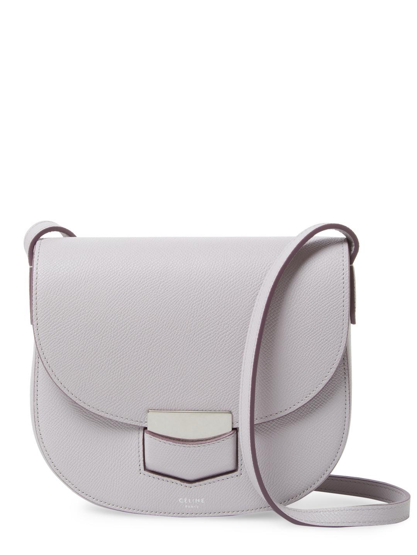 Céline Trotteur Small Leather Shoulder Bag in Purple - Lyst 29ace8e669fc1