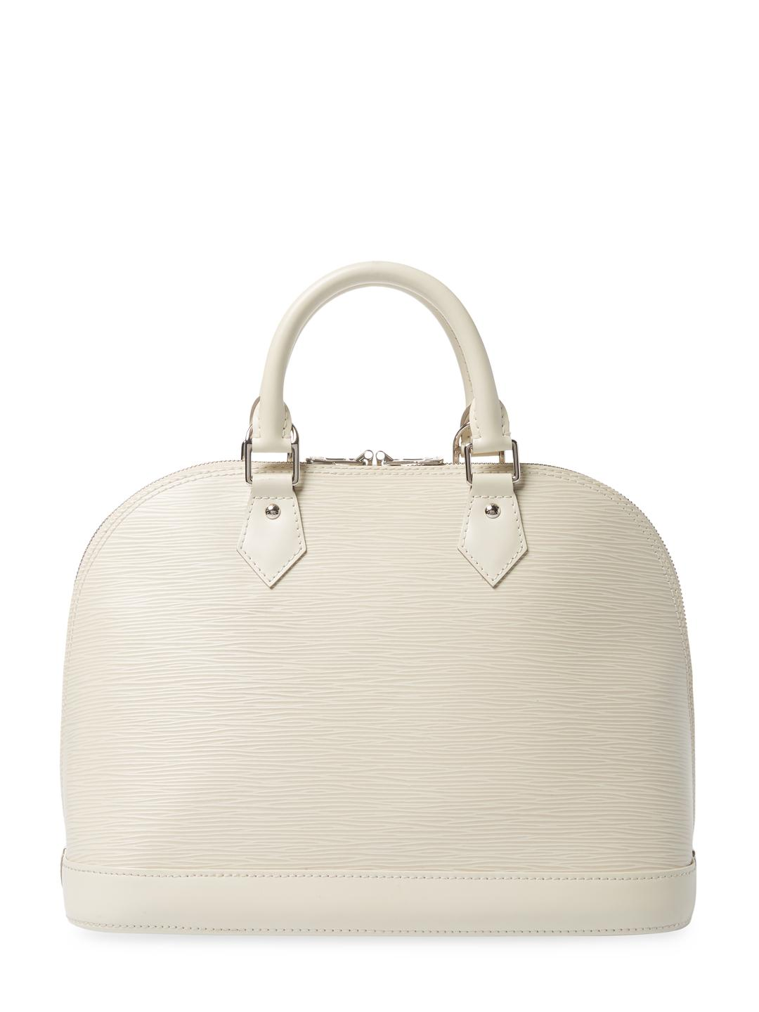 Lyst - Louis Vuitton Vintage White Epi Ab Alma Pm Bag in White 48b539f8e7