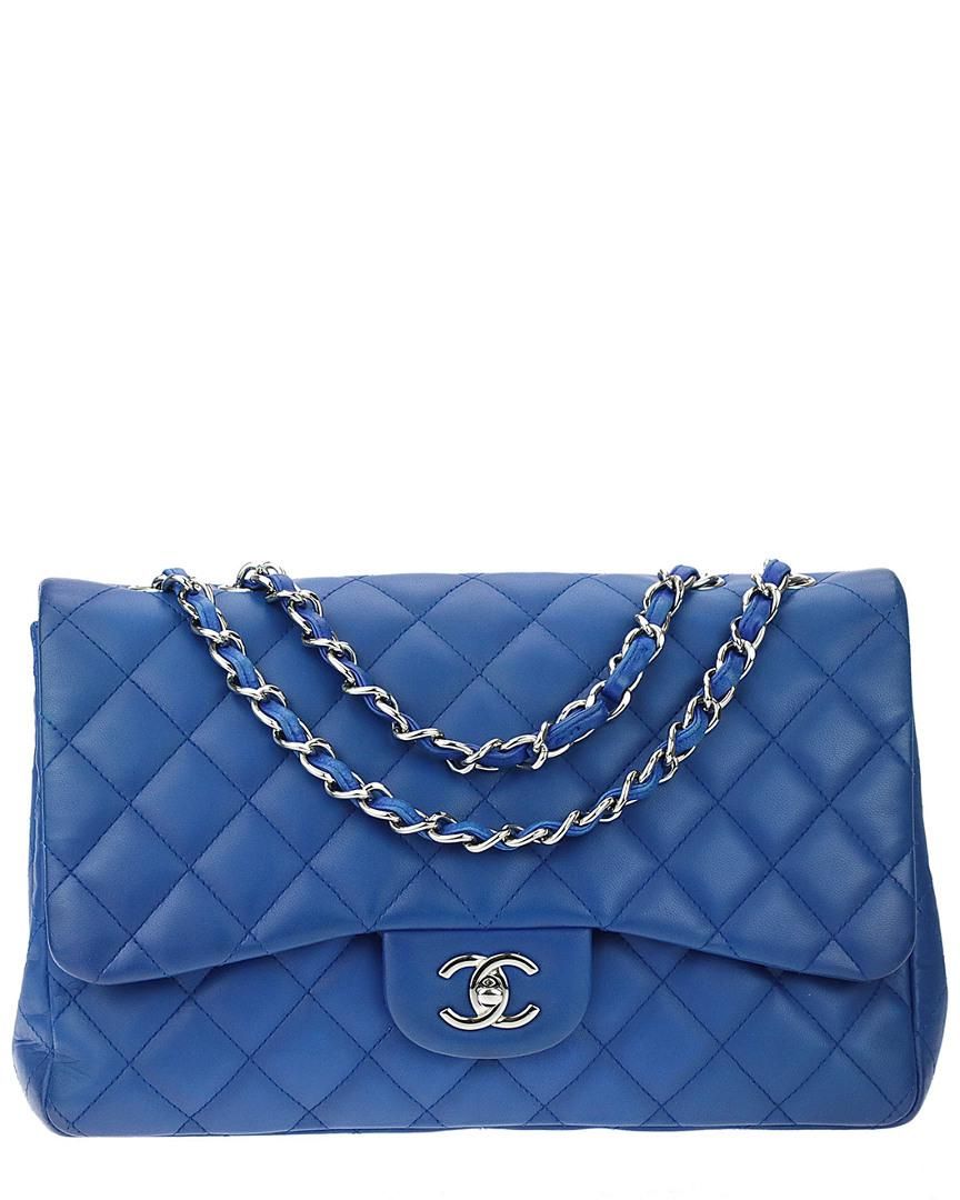 3fffce267c2a Chanel Cobalt Blue Quilted Lambskin Leather Jumbo Single Flap Bag in ...