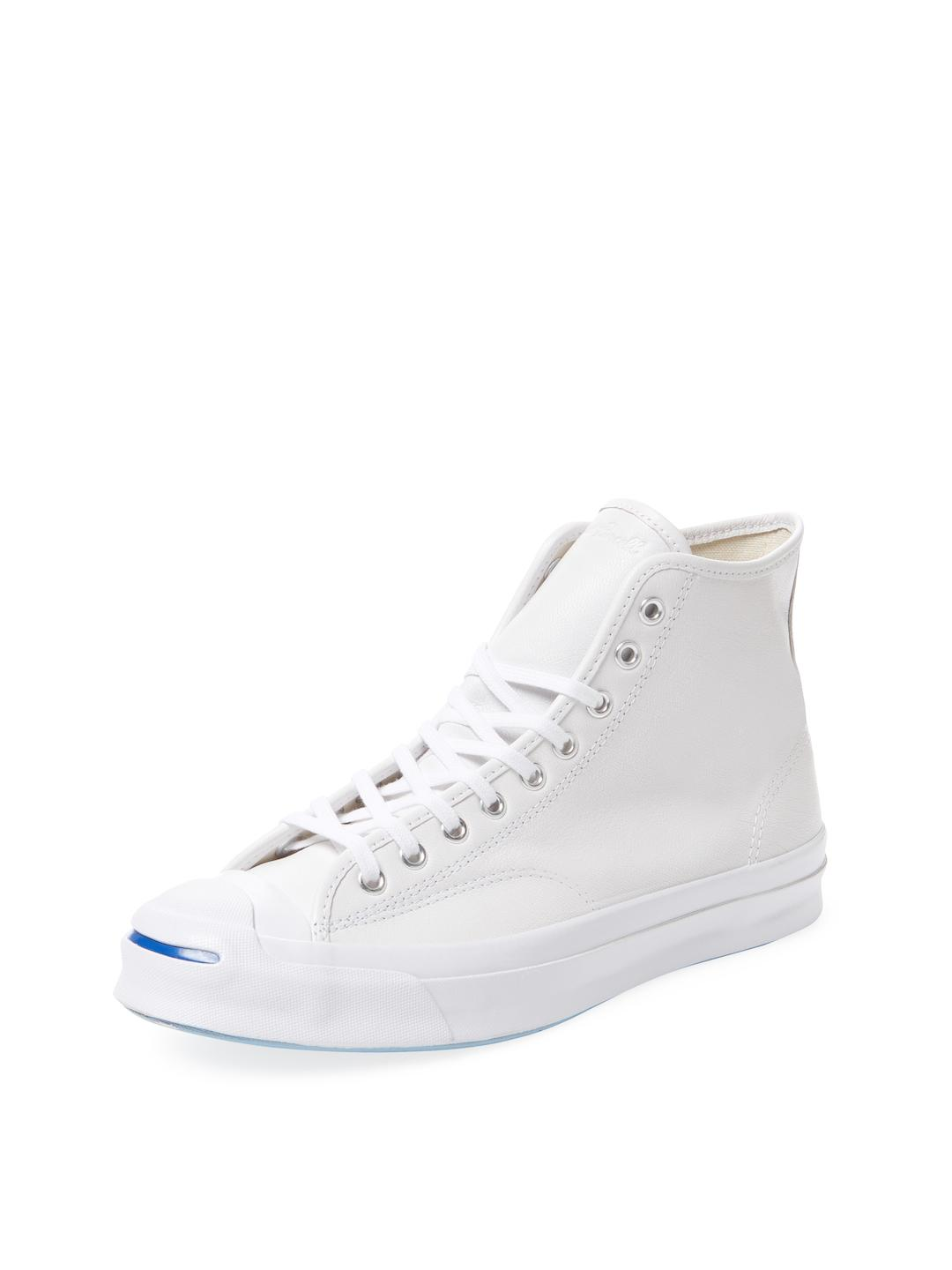 5e3f86fe574464 Lyst - Converse Jack Purcell Signature High Top Sneaker in White