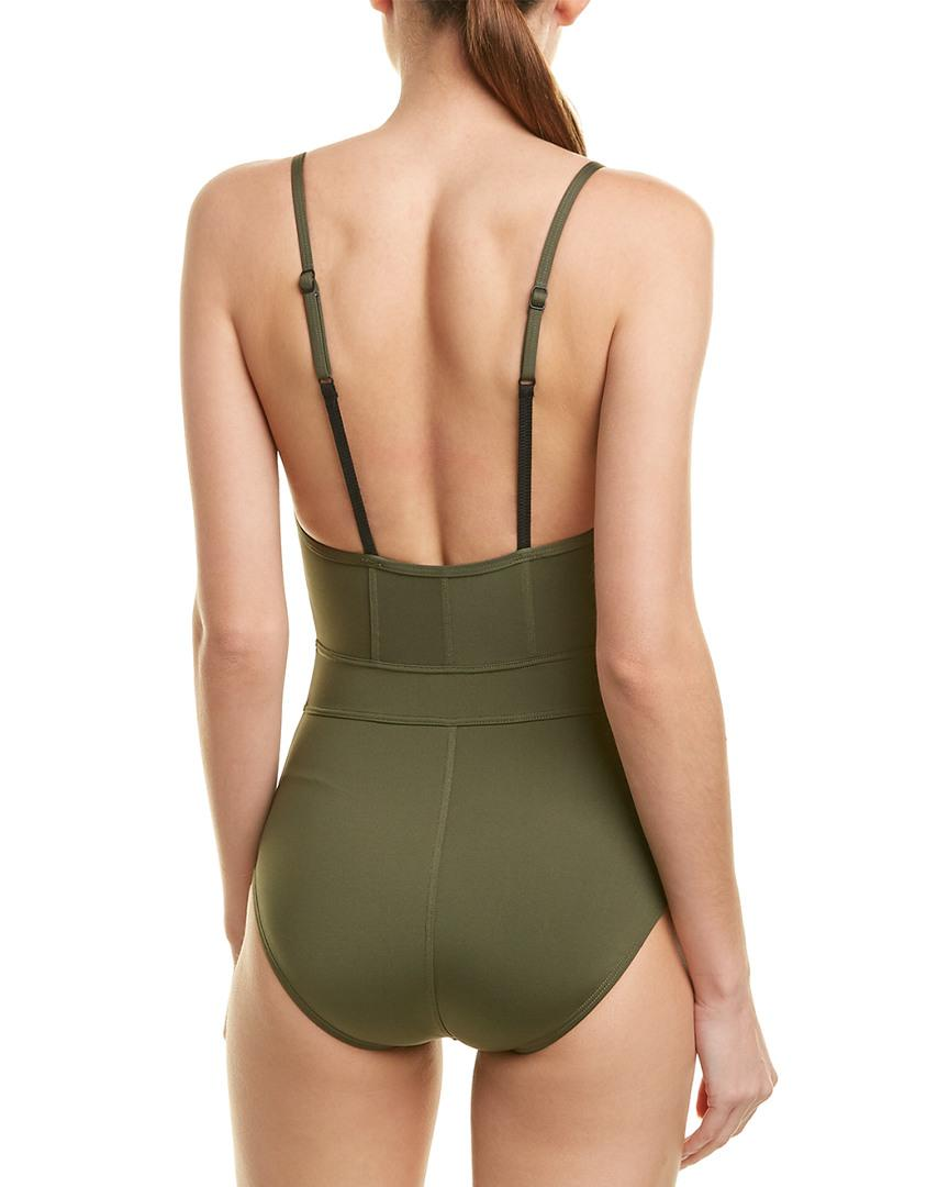 e11169c230 Proenza Schouler Green Underwire Bustier One-piece Swimsuit in Green - Save  56% - Lyst