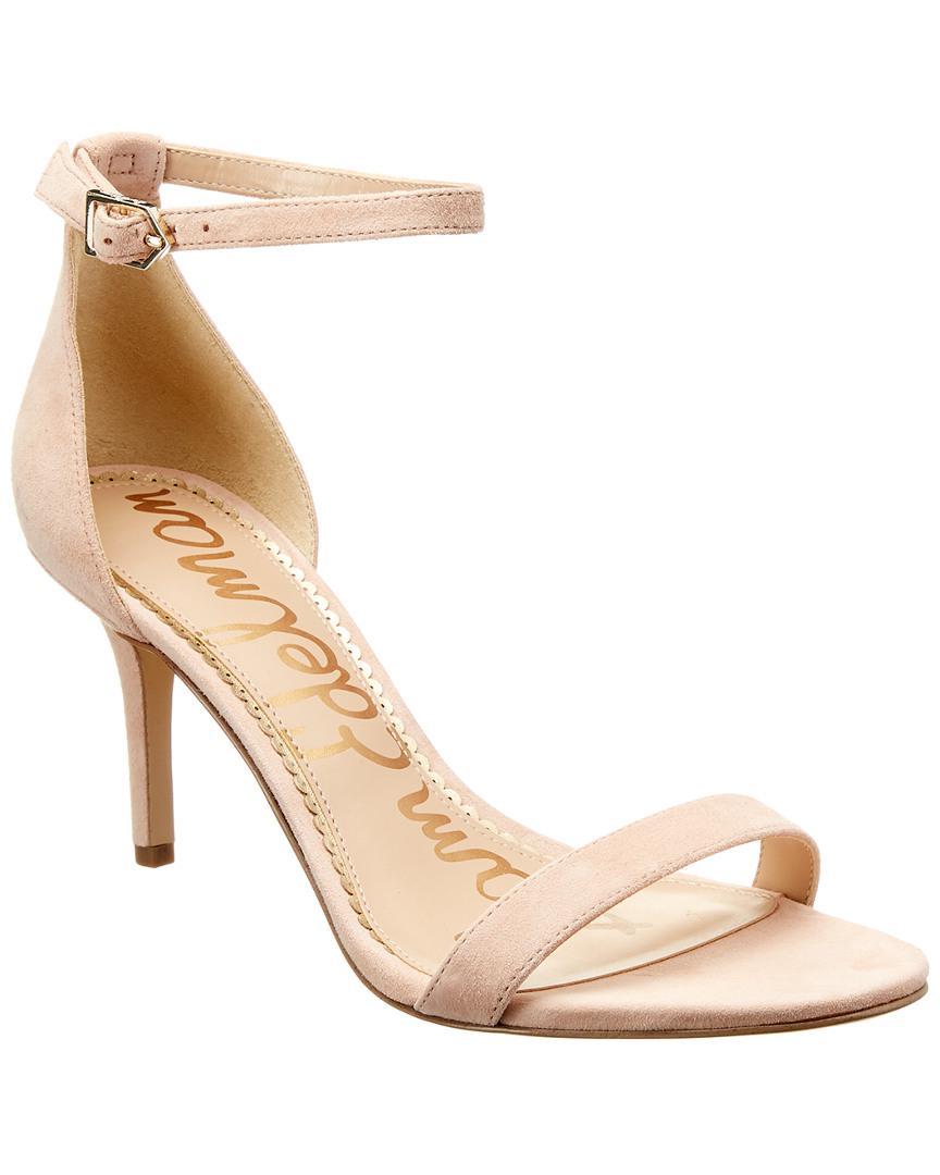 863778910e75 Lyst - Sam Edelman Patti Suede Sandal in Pink