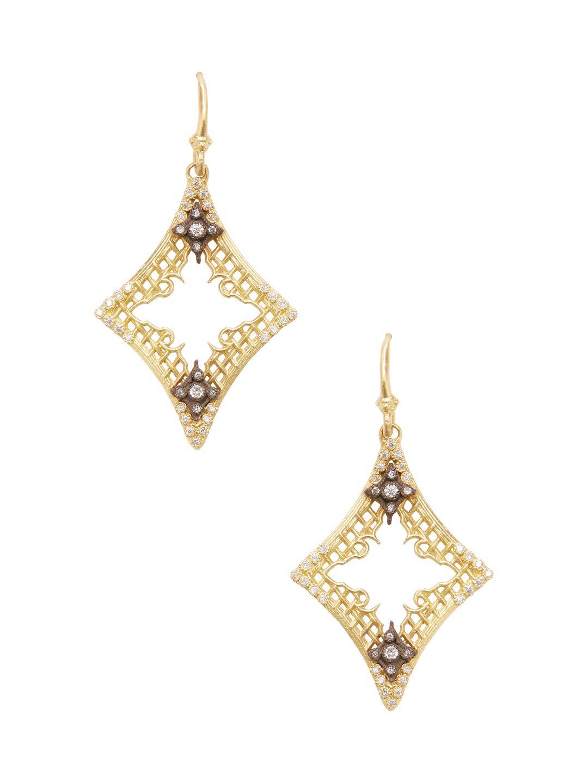 Armenta Old World Open Drop Earrings with Diamonds 1tAIT