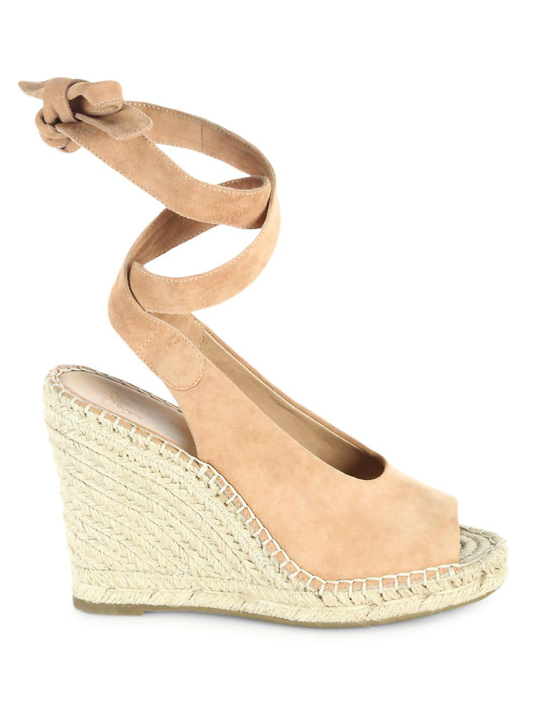 Joie - Natural Kael Suede Espadrille Wedges - Lyst. View Fullscreen