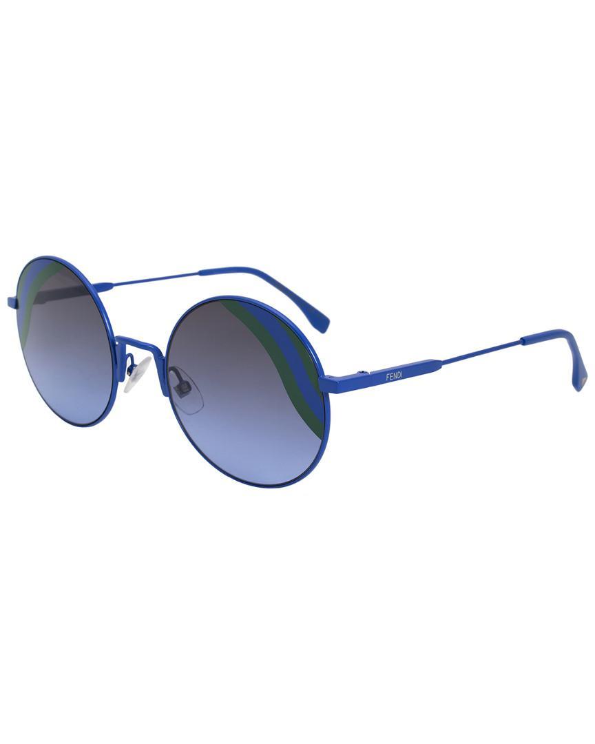 0a8d0db55067 Lyst - Fendi Women s Ff0248s Pjp Gb 53mm Sunglasses in Blue