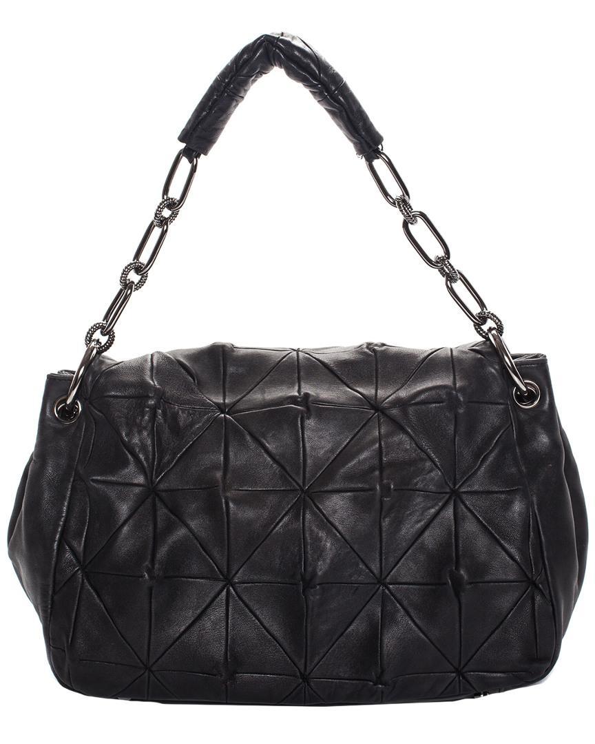04d96229e13 Lyst - Chanel Black Lambskin Leather Large Origami Shoulder Bag in Black