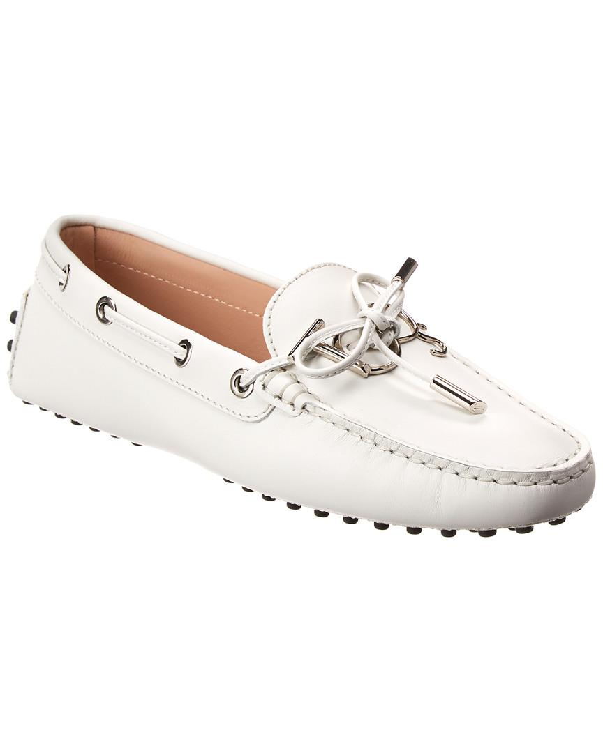 9b1be858183 Tod s Gommino Leather Loafer in White - Lyst