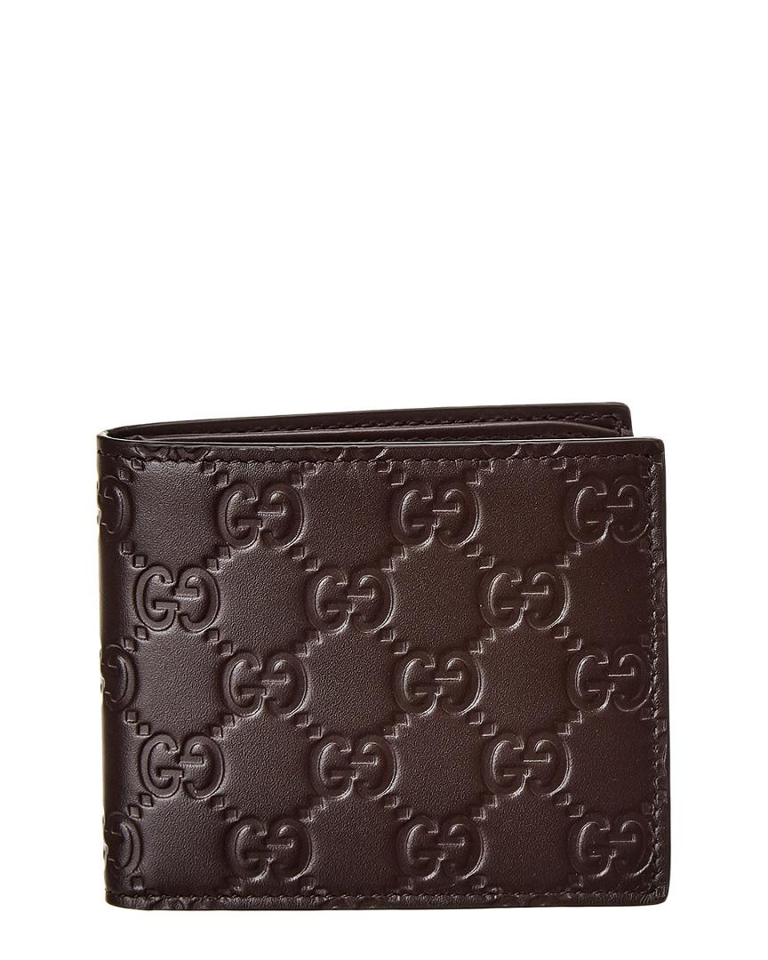 e6f2904416a2f8 Lyst - Gucci Signature Leather Bifold Wallet in Brown for Men