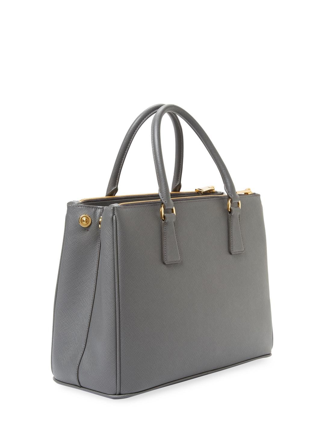 d7b8a8fbc3a2 ... new style lyst prada galleria double zip medium saffiano leather tote  6bdc0 b606c