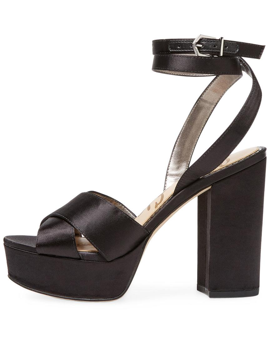 a186baaba2beec Lyst - Sam Edelman Masie Satin Platform Sandal in Black