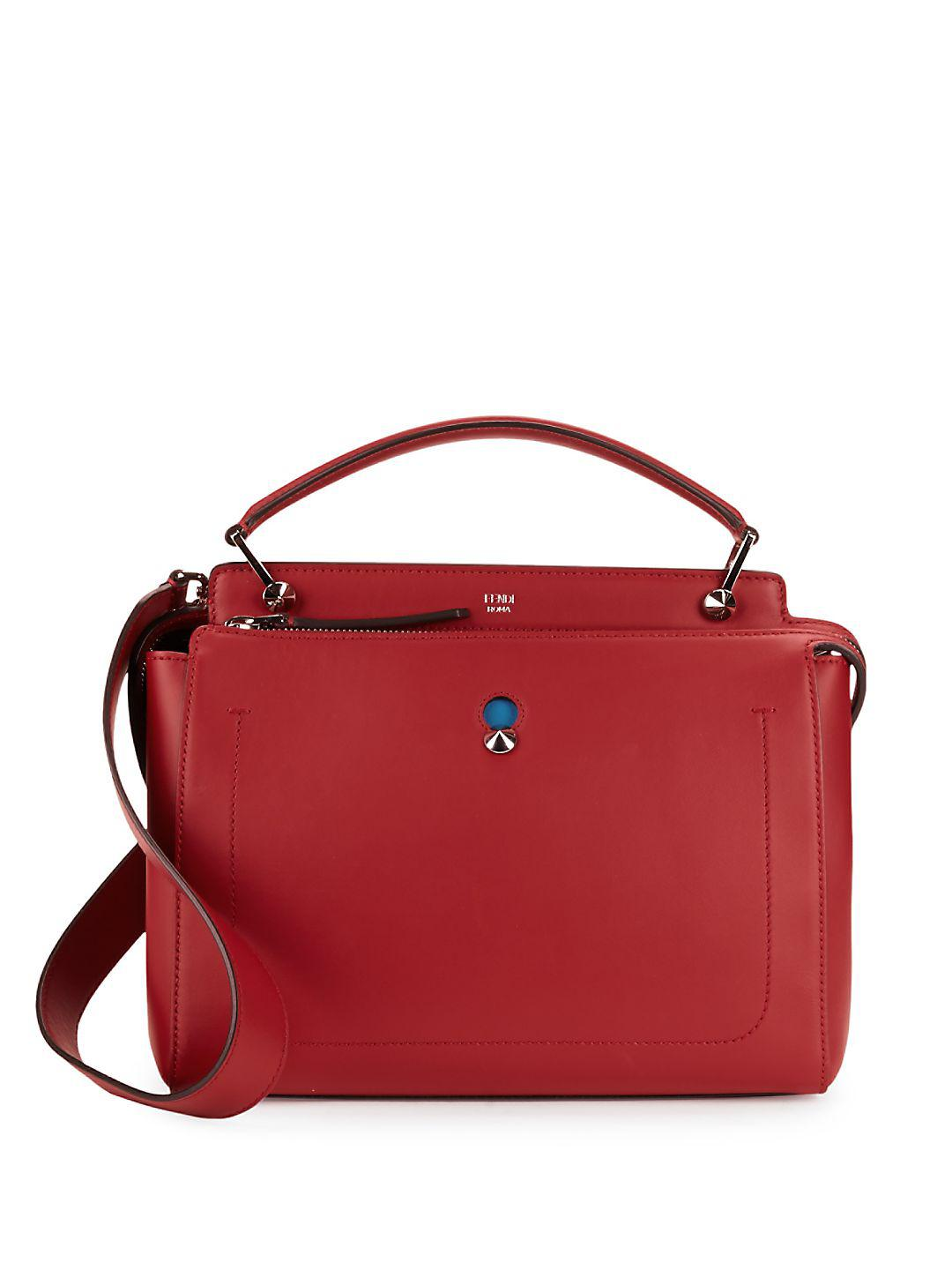 3e90b929a733 ... spain lyst fendi leather top handle bag in red 732d8 6060c