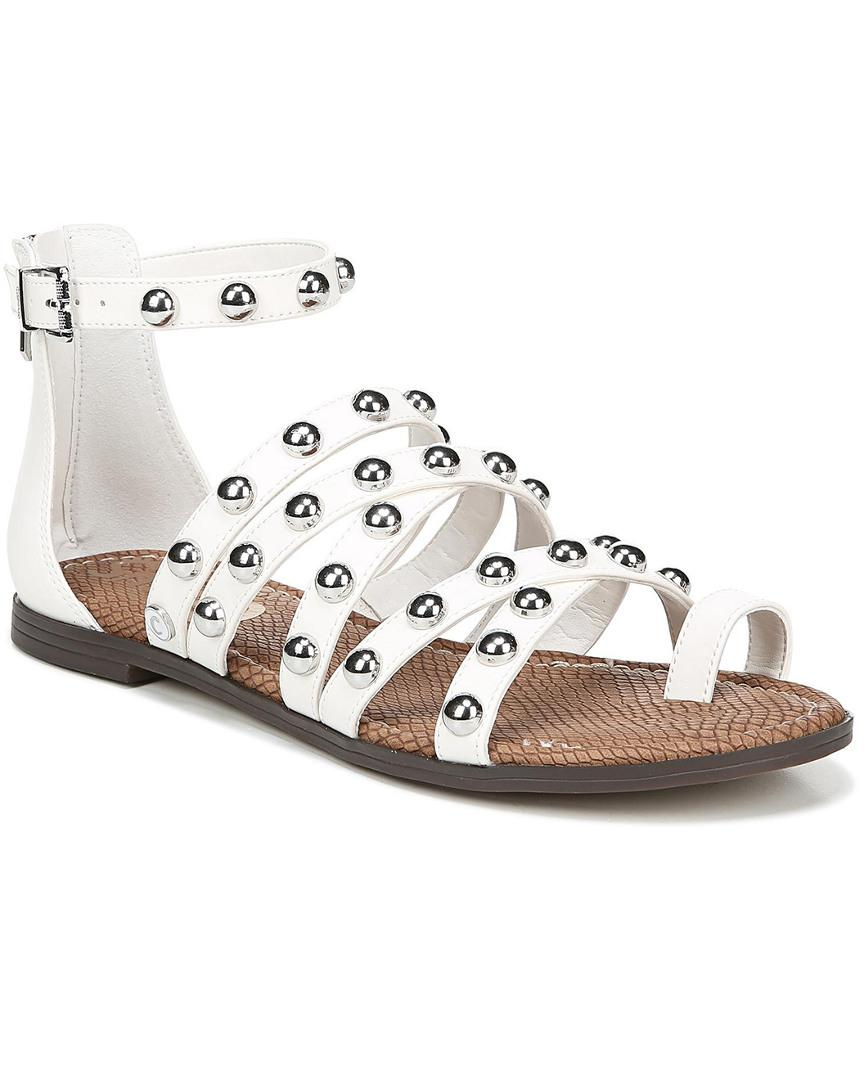 99e26fecf Lyst - Circus by Sam Edelman Carla Studded Cage Sandals in White ...