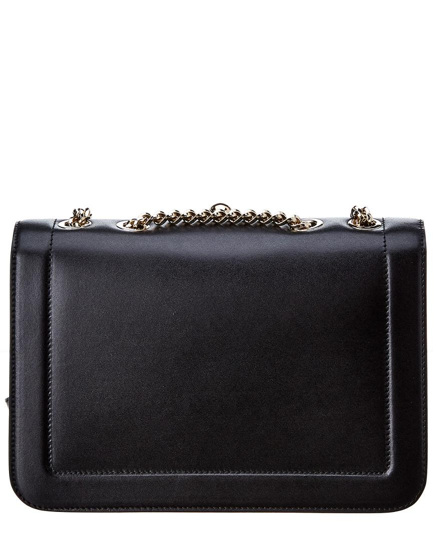 be095d20b9be Lyst - Ferragamo Vara Bow Flap Leather Shoulder Bag in Black