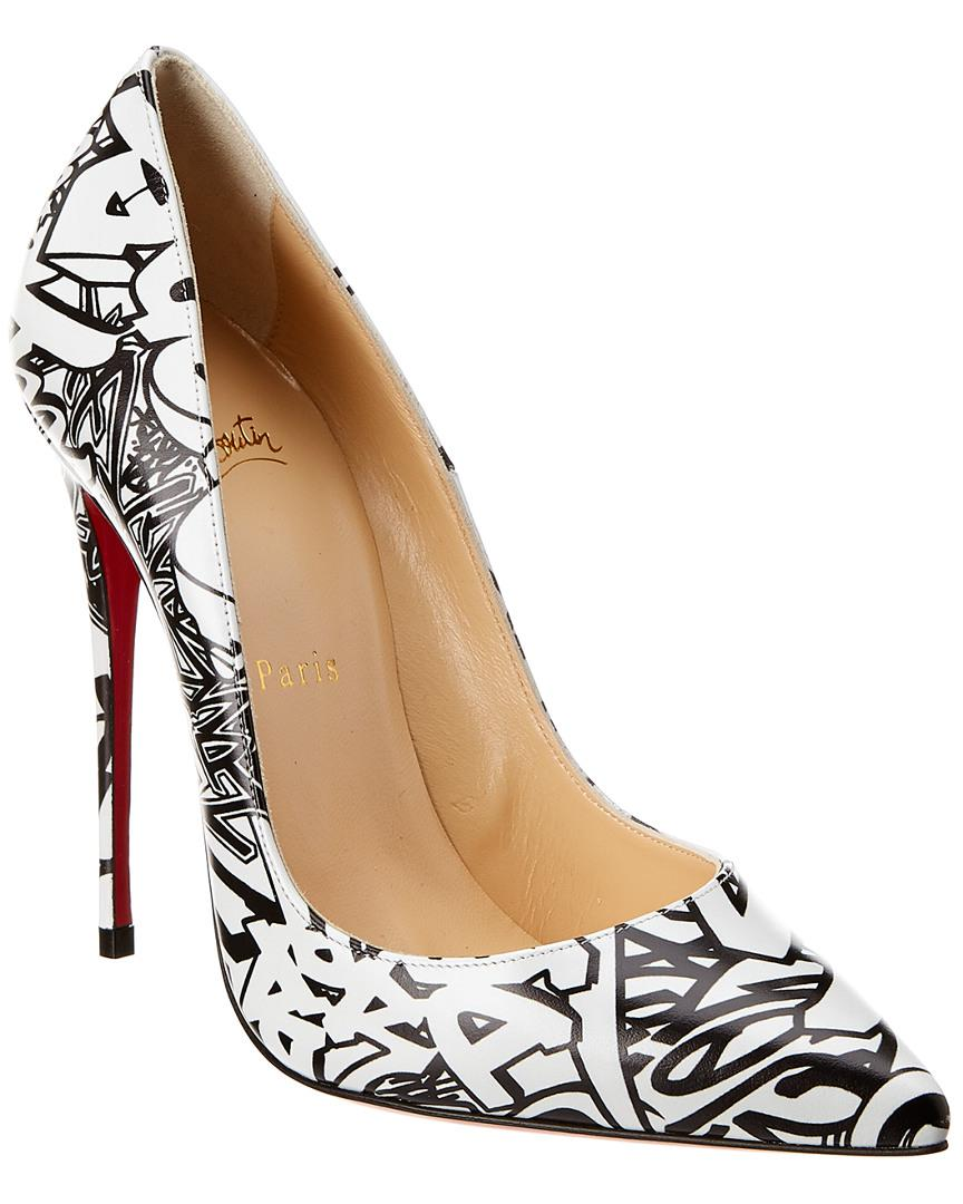eb906dd18381 Lyst - Christian Louboutin So Kate 120 Calf Wallgraf Leather Pump in ...
