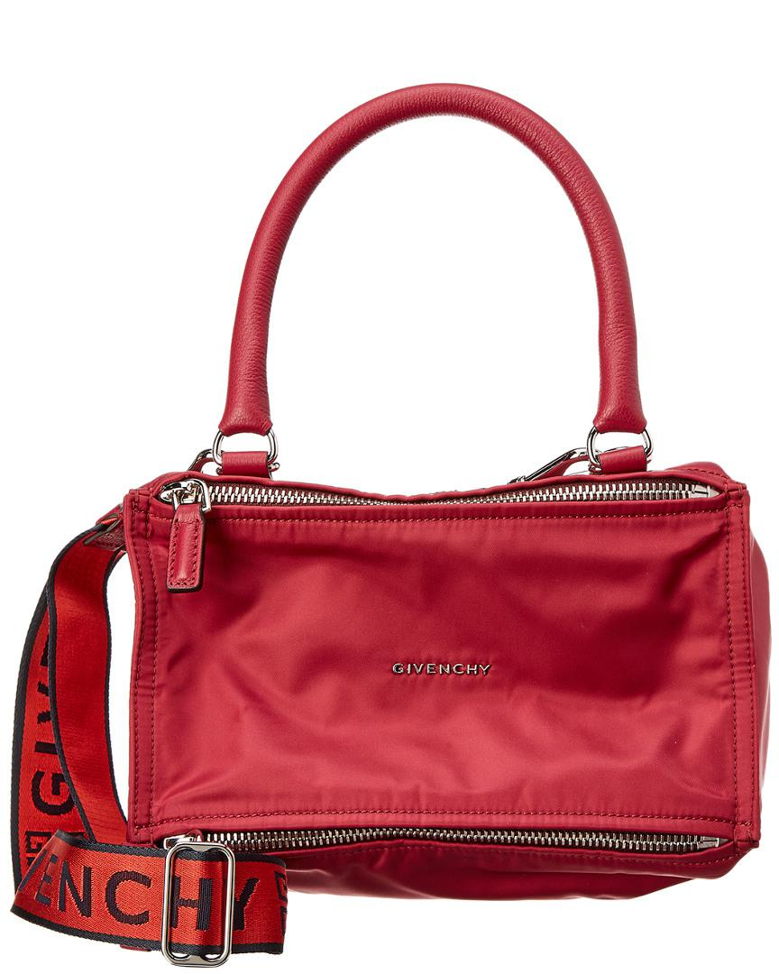 fa7f4cfaeef Givenchy Small 4g Pandora Nylon & Leather Shoulder Bag in Red - Lyst