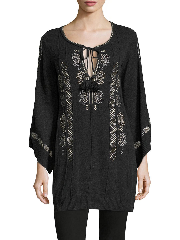0316f3d1e90a8 Calypso St. Barth Rangari Cashmere Embroidered Sweater Tunic - Lyst