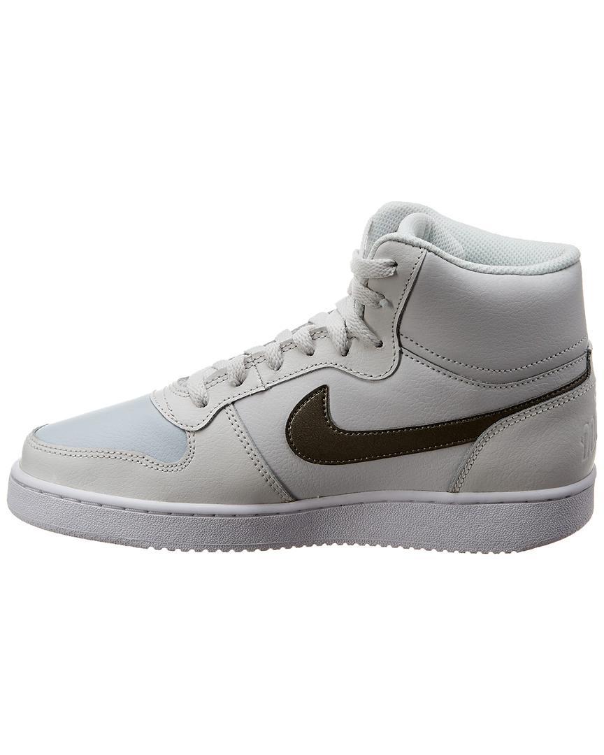 buy popular 8fddf 80020 Nike Ebernon Mid-top Leather Sneaker in White - Save 2% - Lyst