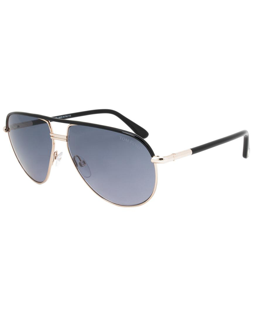 58469b3cd4 Tom Ford Unisex Cole Aviator Sunglasses Ft0285 01b 61 61mm ...