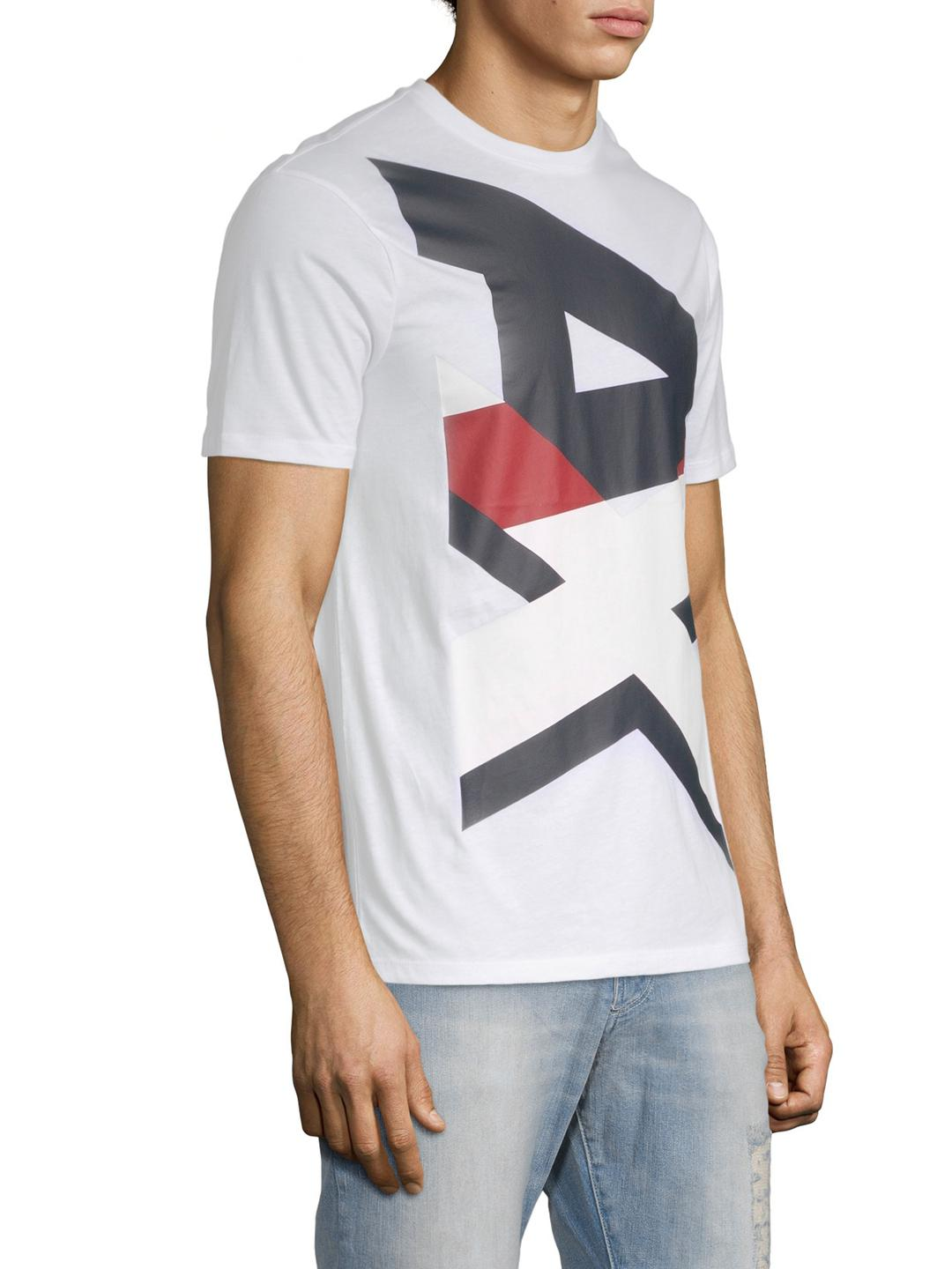 66b20806770 Armani Exchange Logo Graphic Tee in White for Men - Lyst