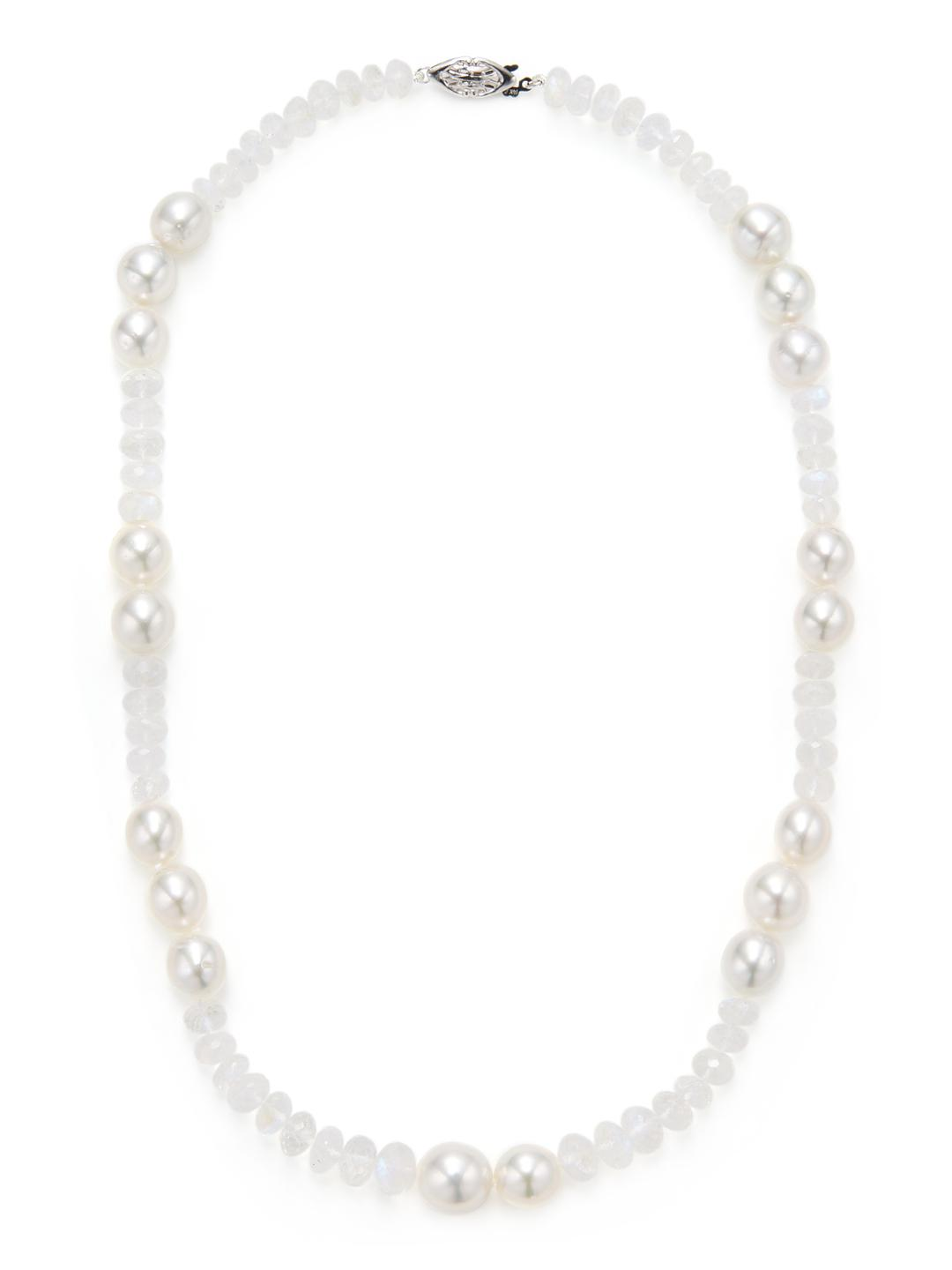 Belpearl 14k White South Sea Pearl Swirl Necklace OpEHiDYk