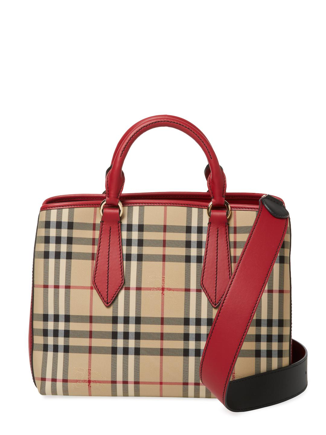6c8efadd9810 Lyst - Burberry Ballingdon Horseferry Check Tote in Red