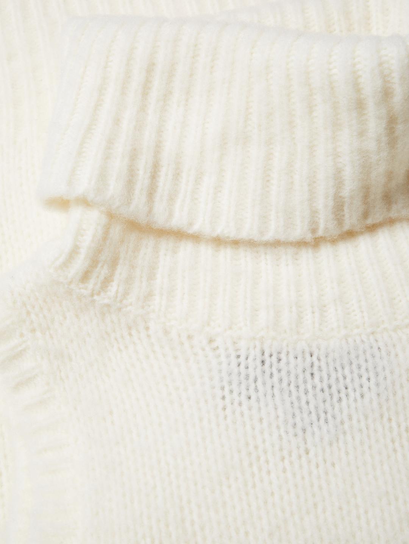203645fb9d1c2e Lyst - Rachel Zoe Elodie Wool Sleeveless Turtleneck Sweater in White
