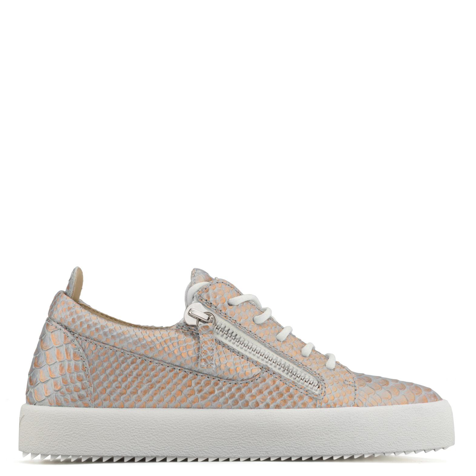 Giuseppe Zanotti Light python-embossed pearlized low-top sneaker GAIL dgm8qxevw