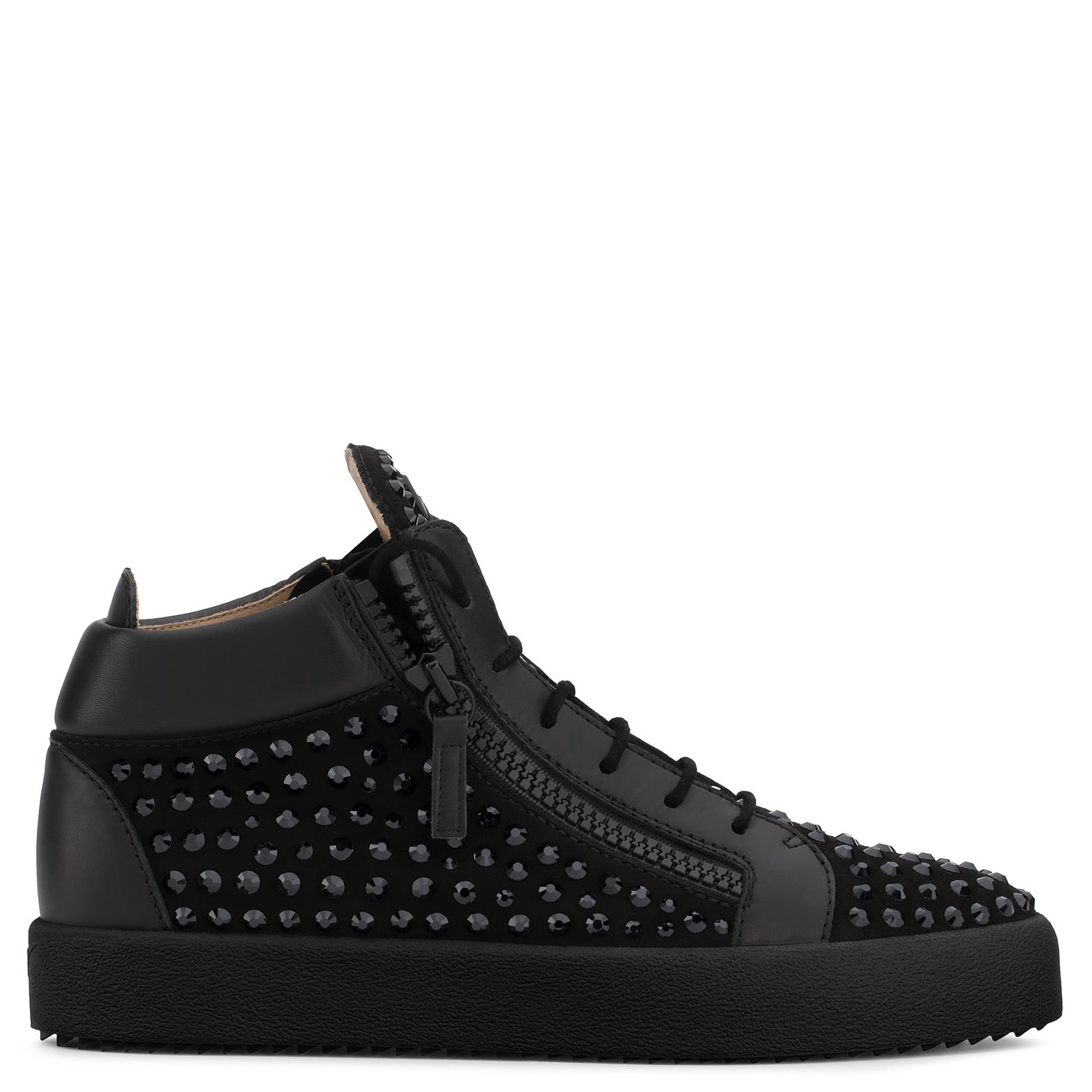 Giuseppe Zanotti Suede low-top sneaker with crystals DORIS LOW kmtzt