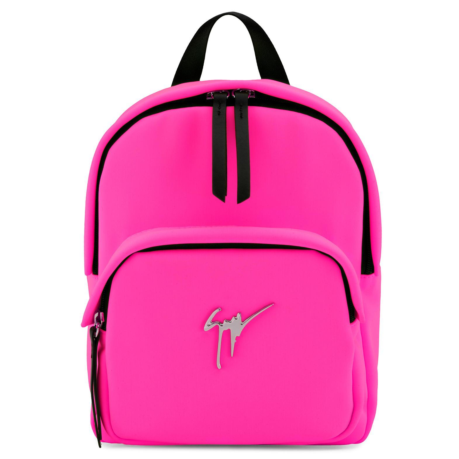Giuseppe Zanotti - Pink velvet and leather backpack CECIL VELVET 4yEsPXd