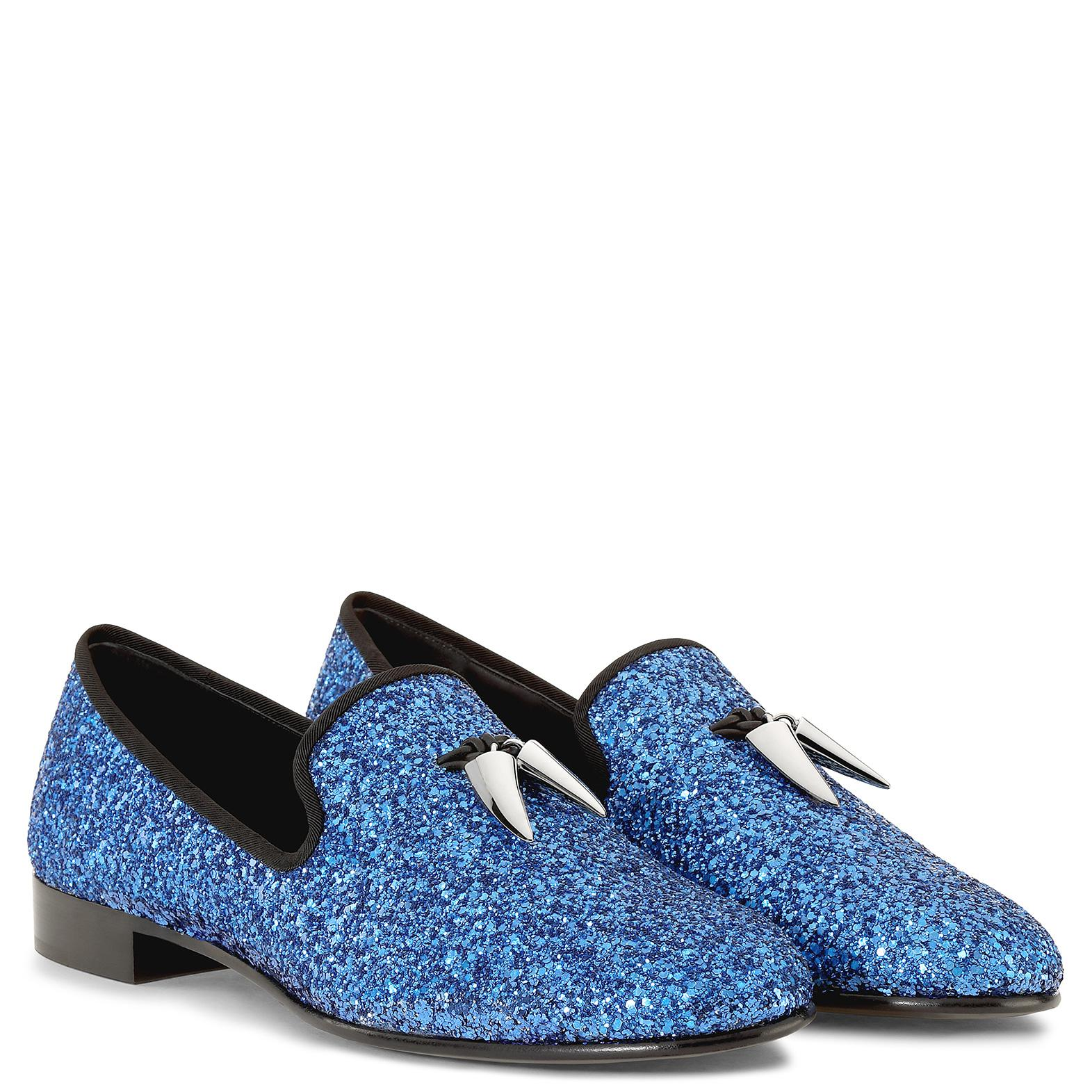 Giuseppe ZanottiFabric loafer with glitter finishing SPACEY