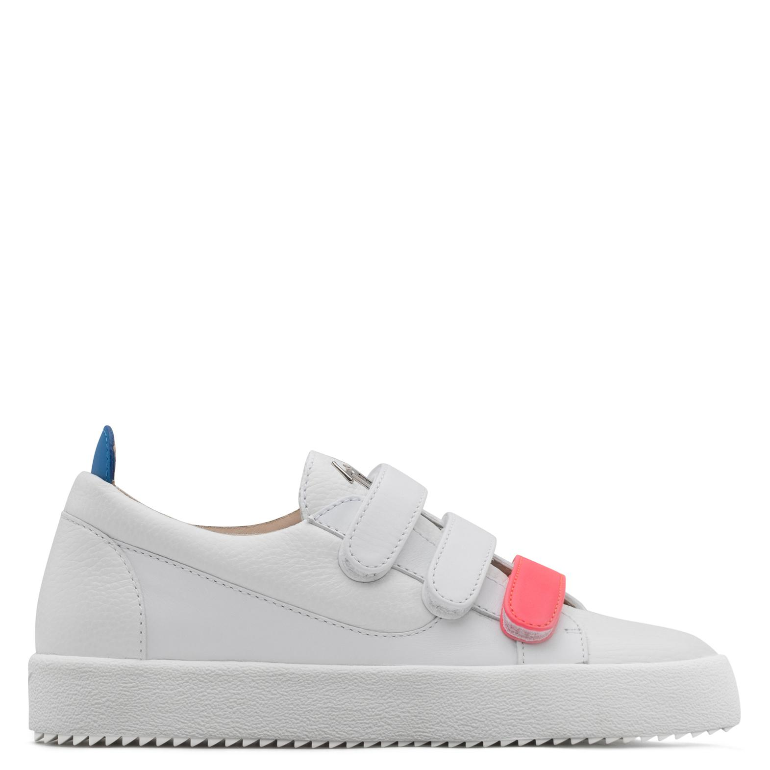 Giuseppe Zanotti Calfskin leather low-top sneaker with three straps JODY Azk1kBrgh9