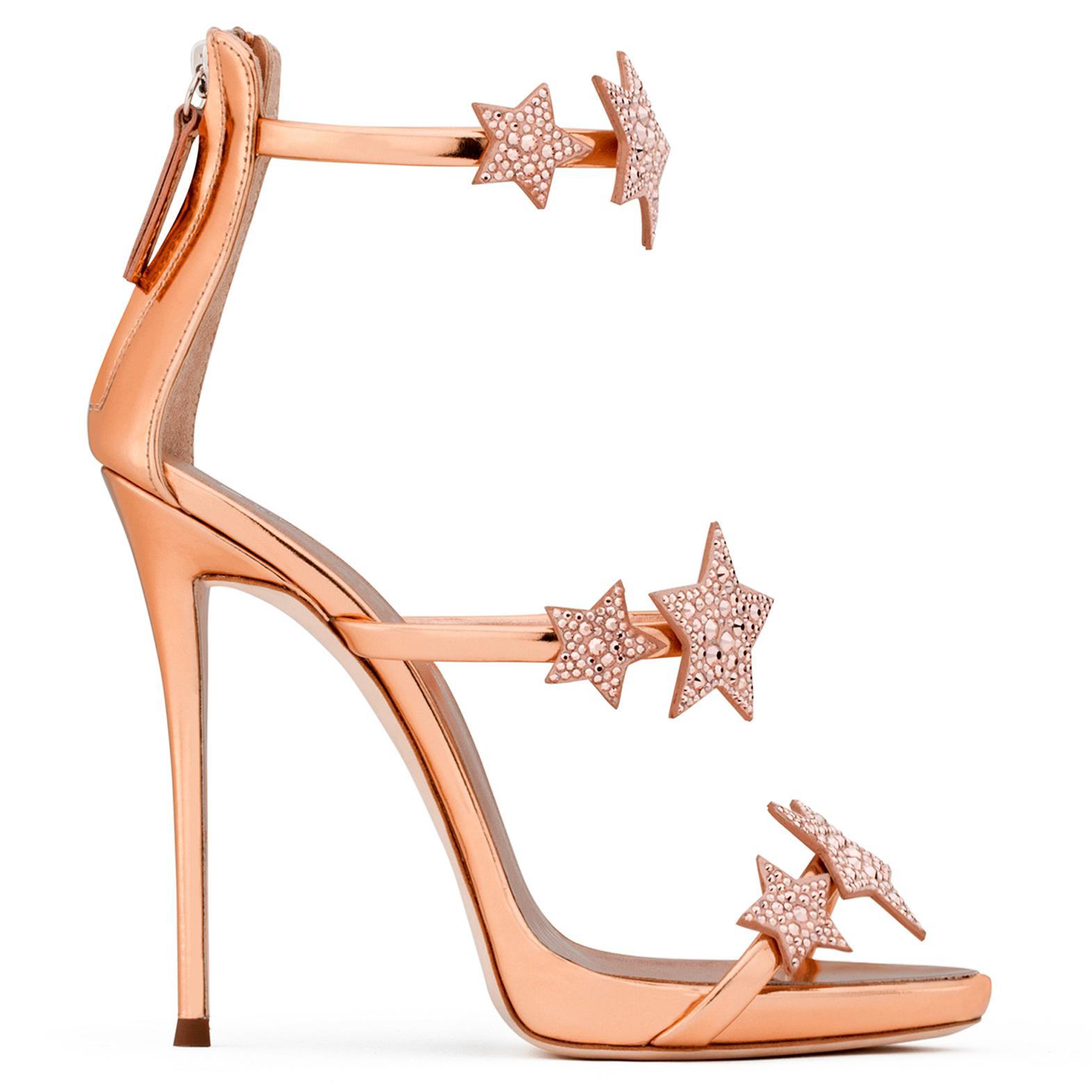 Giuseppe Zanotti Silver patent leather sandal with multicolour stars HARMONY STAR 0tiFGNCSL