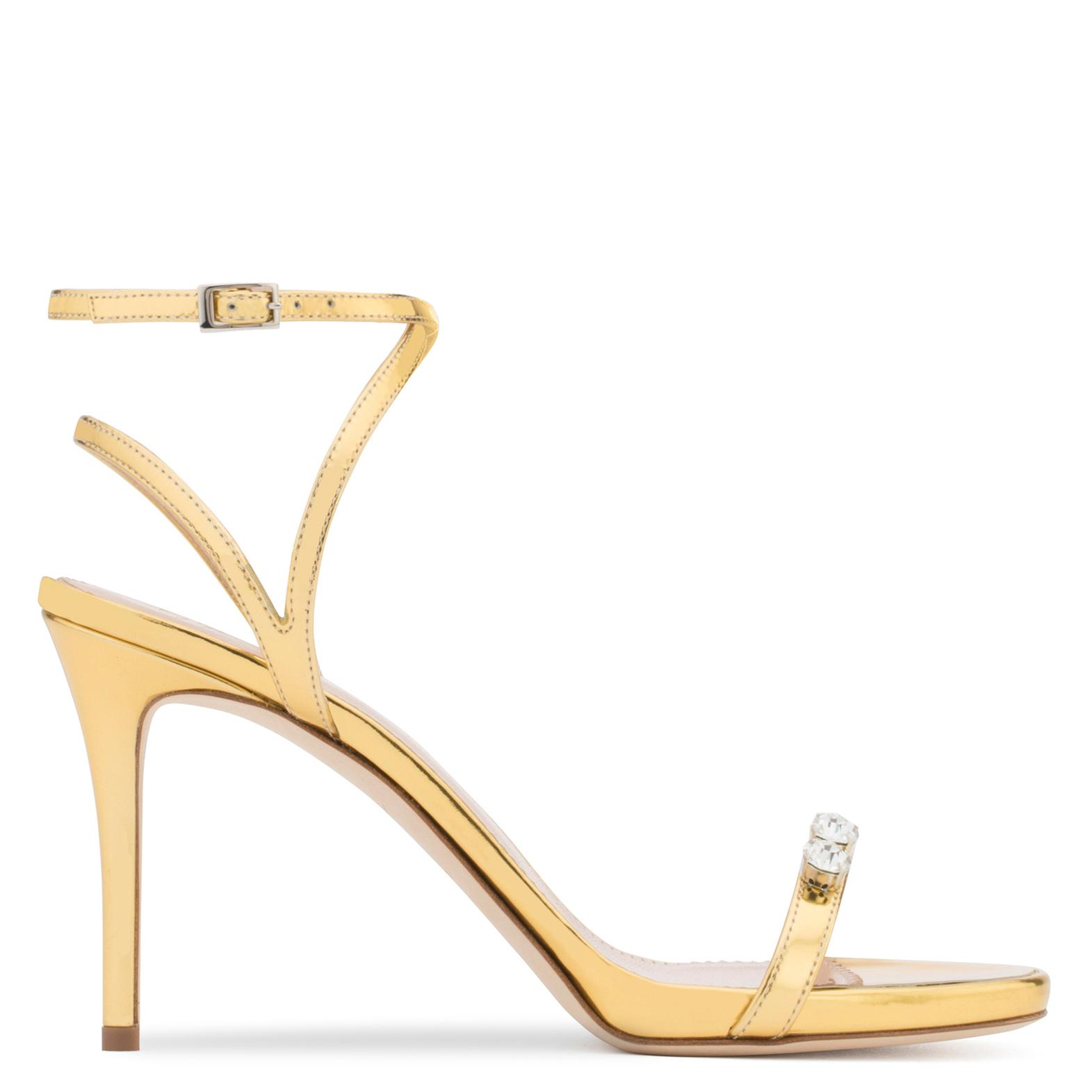 Giuseppe Zanotti Mirrored patent leather sandal ELLIE Hty6yx