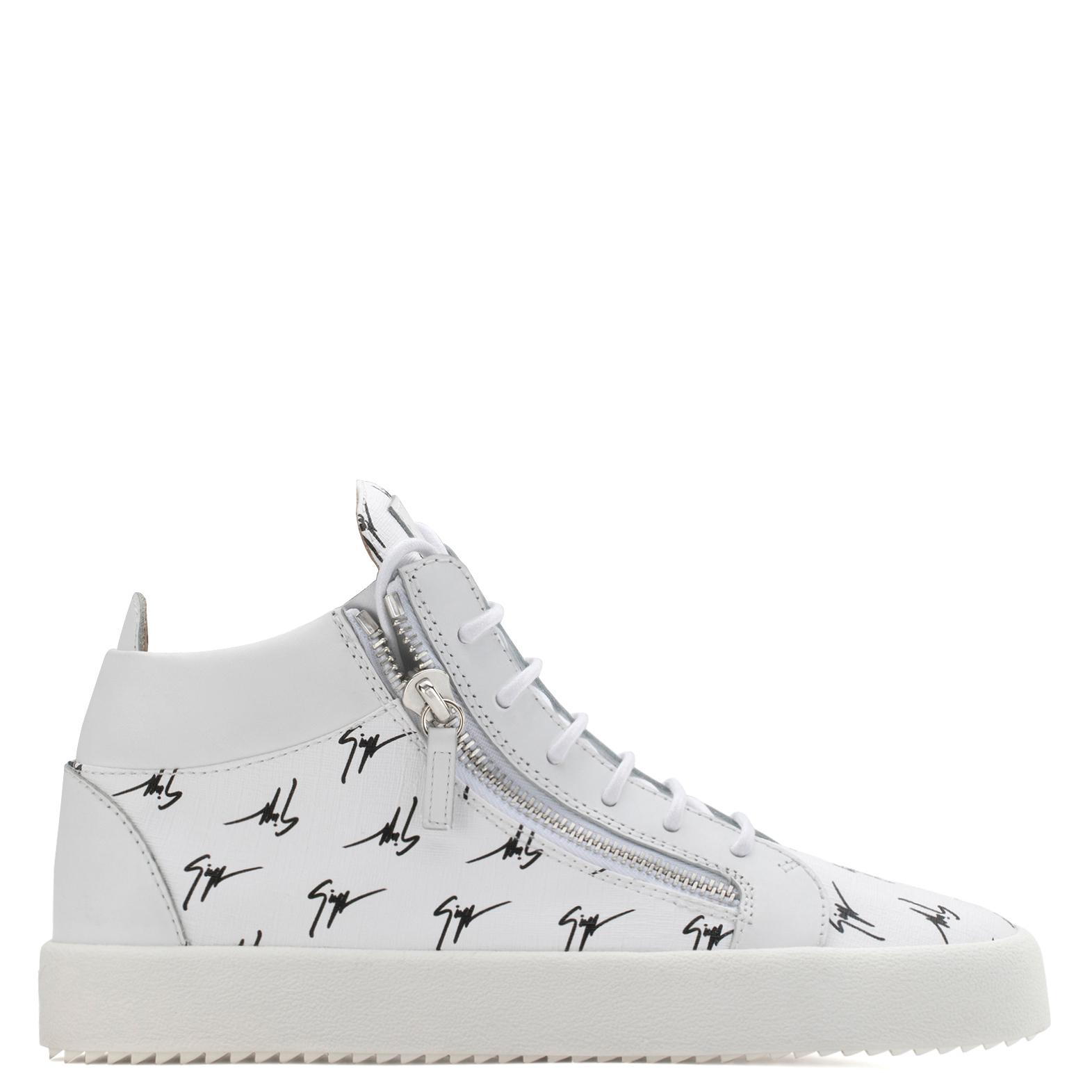 Giuseppe Zanotti Fabric mid-top sneaker with logo motif THE SIGNATURE fwJvDs9X