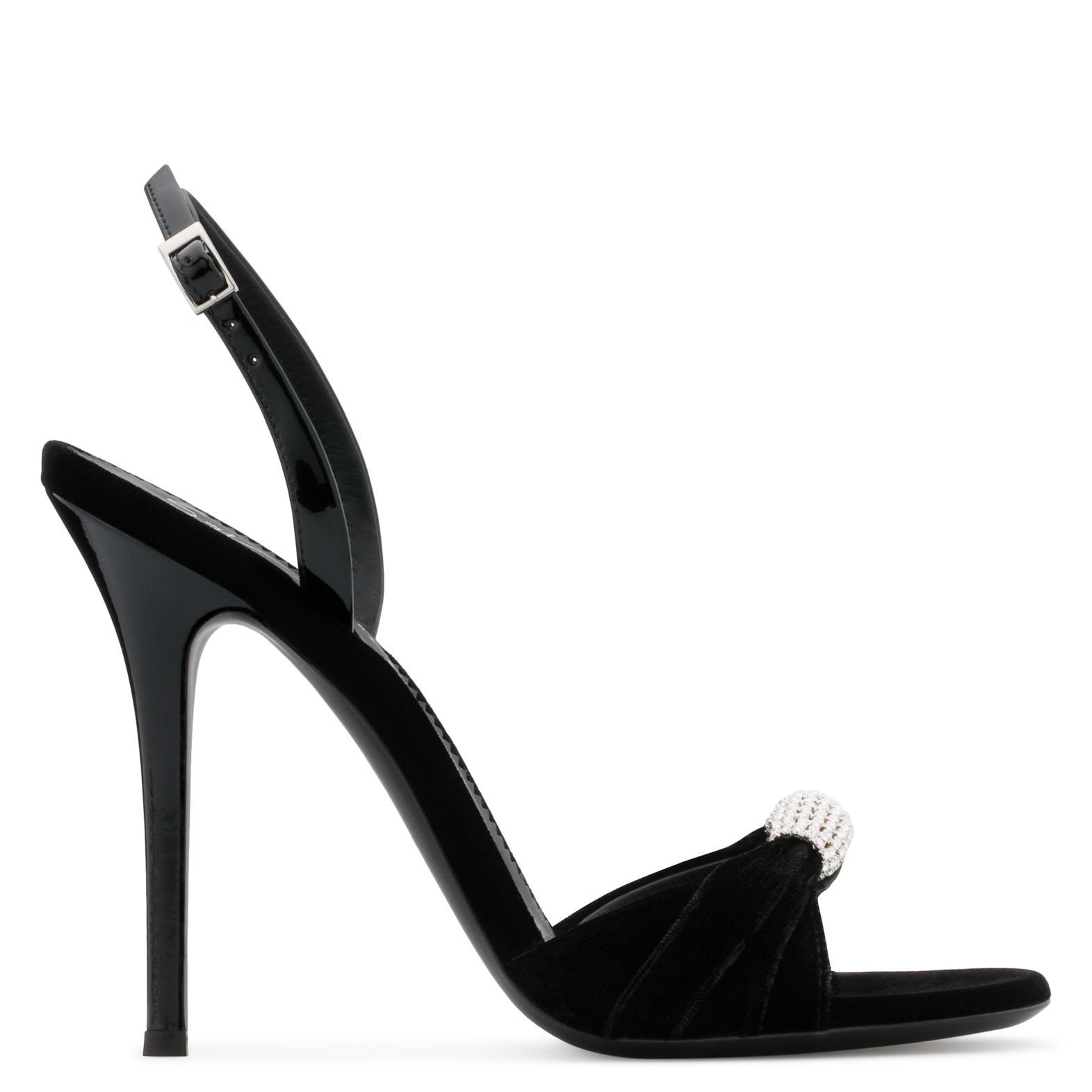 Giuseppe Zanotti Velvet sandal with crystal's accessory SYLVIA YNJCdK