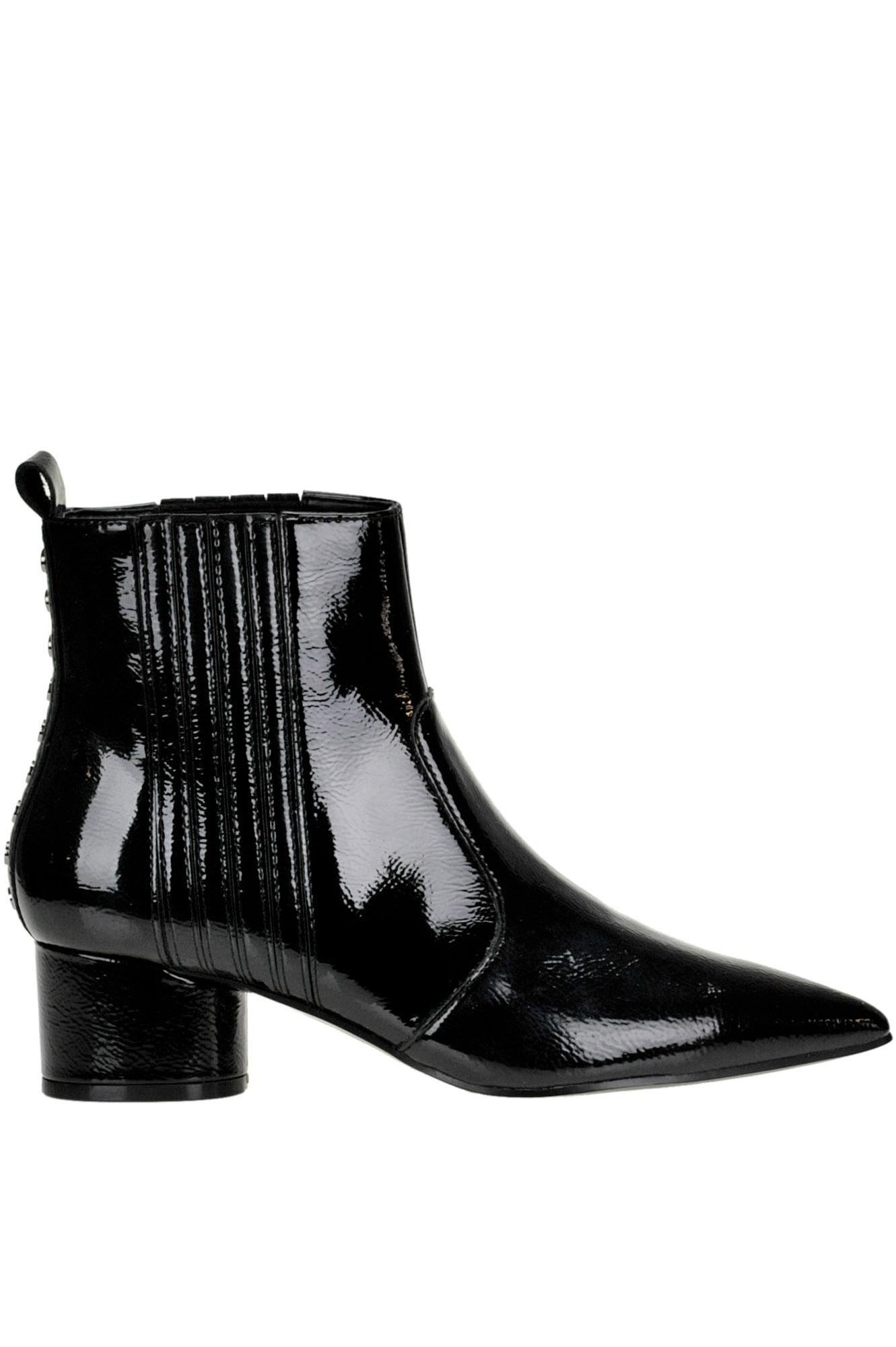 f27e1e2f973 Kendall + Kylie Laila Patent-leather Ankle-boots in Black - Lyst