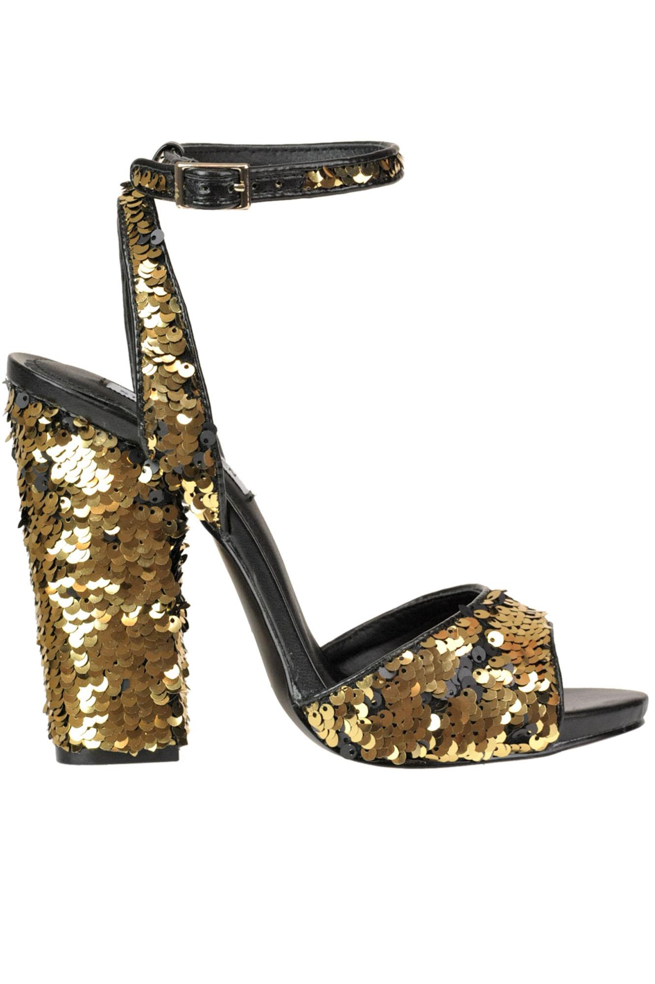 94640c24642 Lyst - Steve Madden Sequined Sandals in Metallic