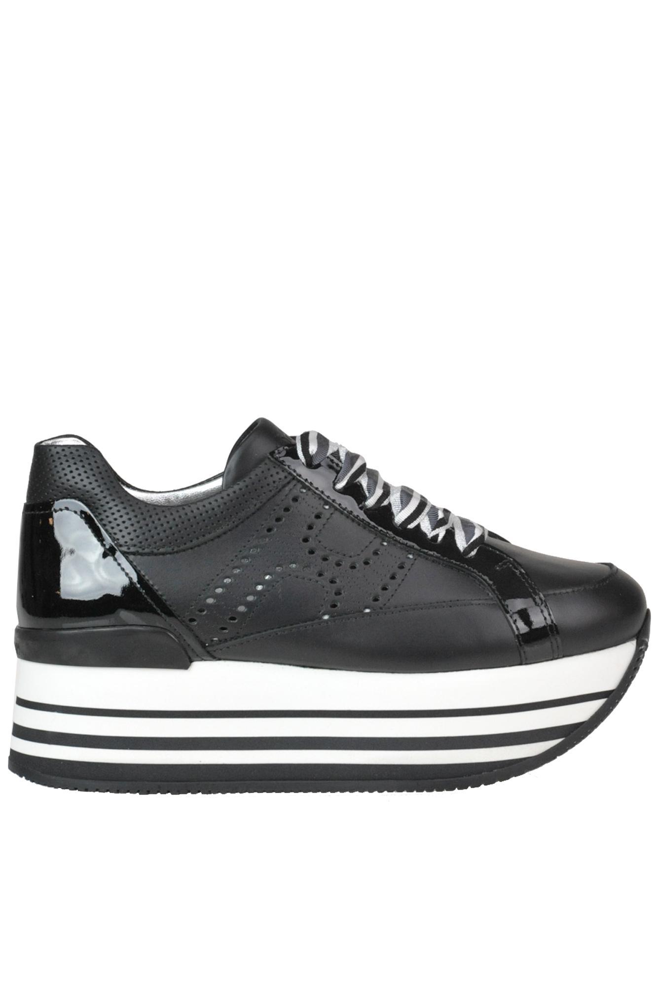 8579d4ae36 Lyst - Hogan 'maxi 222' Wedge Sneakers in Black