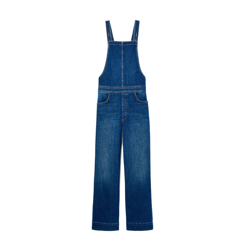 72d9170897a Lyst - Mother The Greaser Overall Crop Jeans in Blue - Save 30%