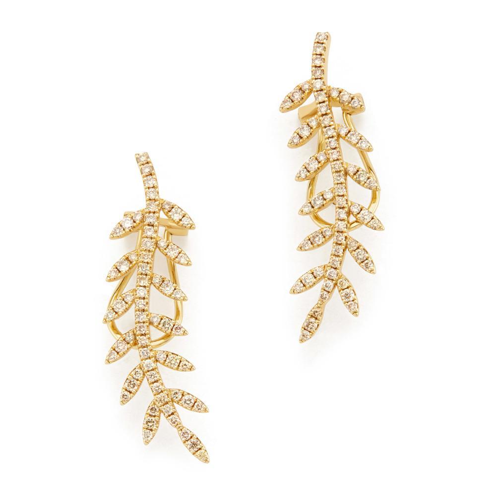 e4c4e0705 Lyst - Rosa De La Cruz Ivy Gold Diamond Ear Cuffs Earring in Metallic