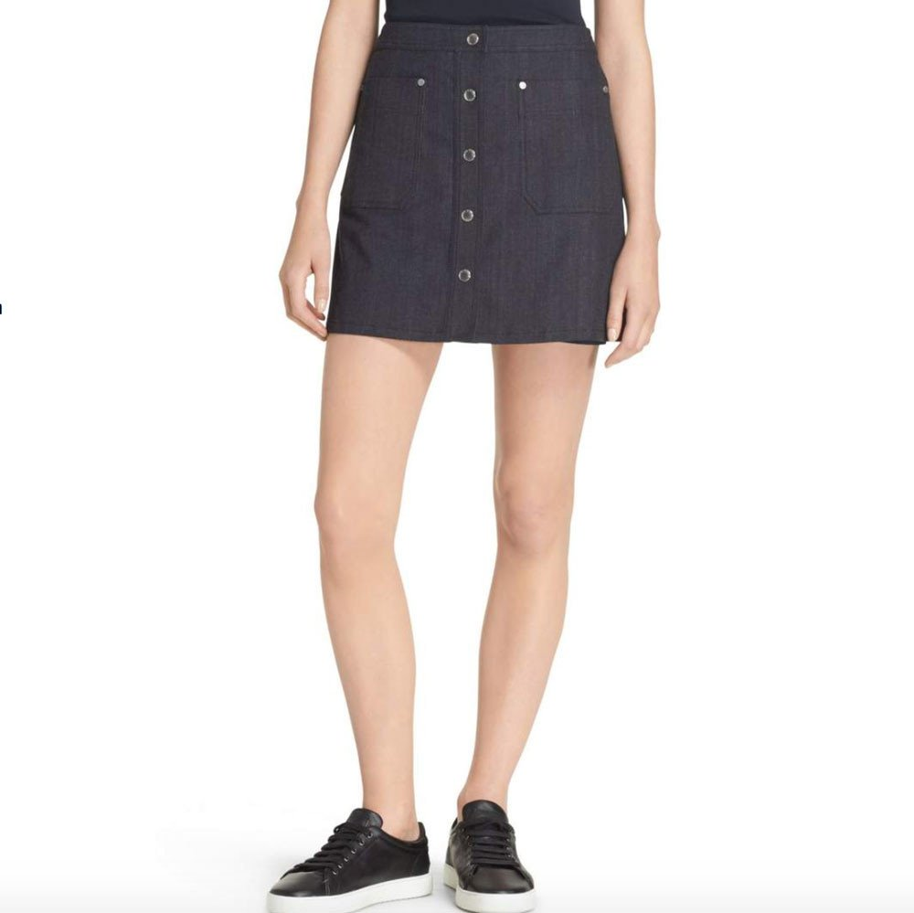 rag bone siggy denim skirt in blue lyst