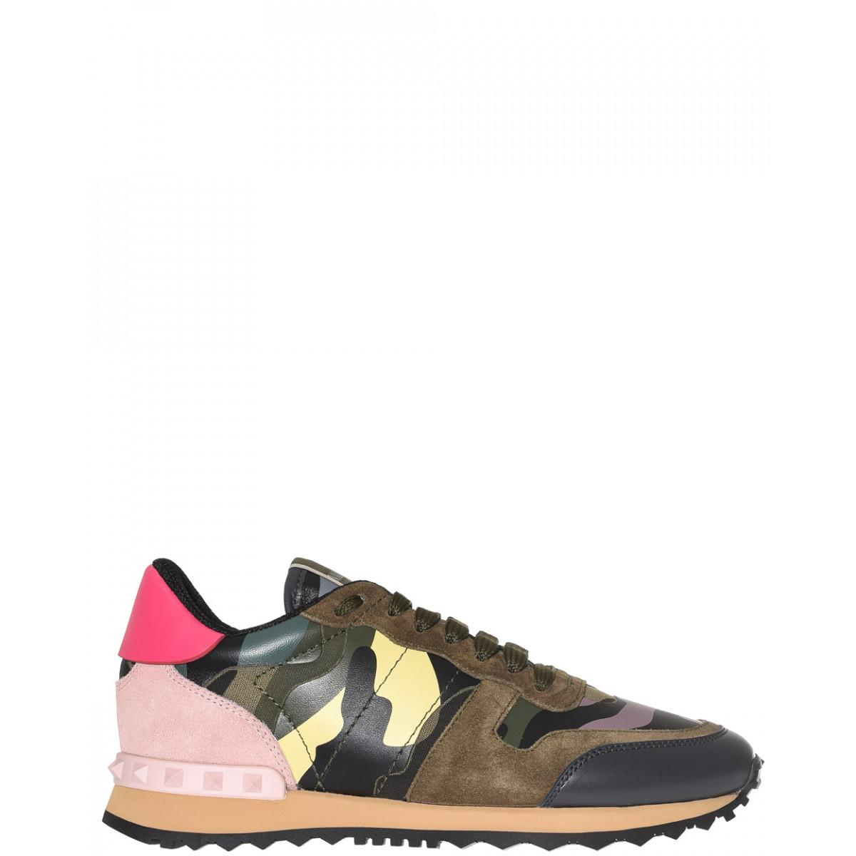 valentino camouflage rockrunner sneakers in brown lyst. Black Bedroom Furniture Sets. Home Design Ideas