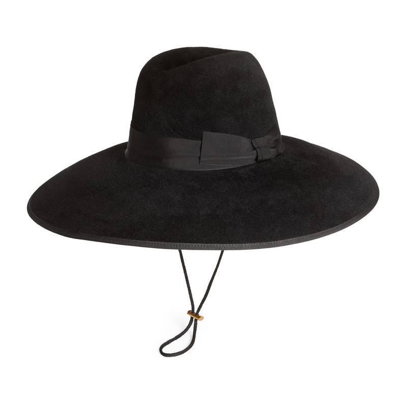 6eff41e0b1e8f Lyst - Gucci Felt Wide Brim Hat in Black for Men