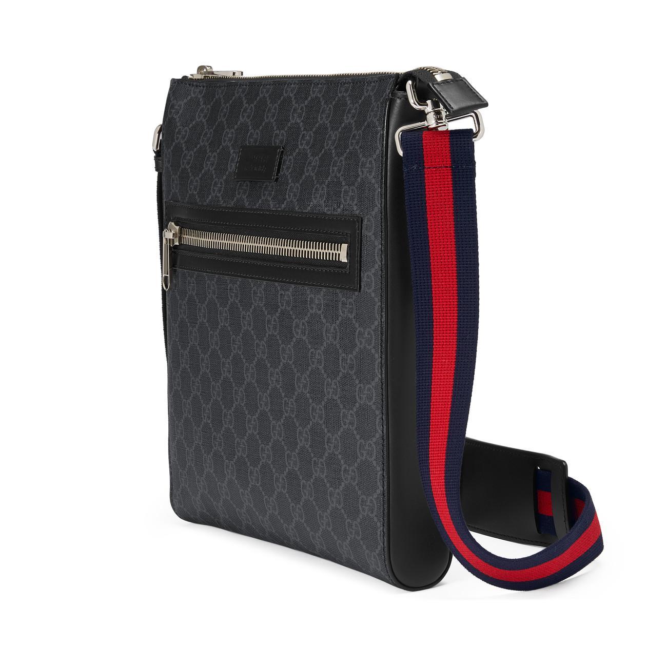 1807ed5ea13c Lyst - Gucci GG Supreme Messenger in Blue for Men